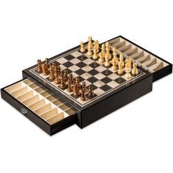 Carbon Fiber-Design Chess Set found on Bargain Bro India from neimanmarcus.com for $195.00