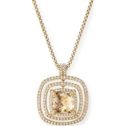 Châtelaine Pave Diamond Bezel Enhancer with Champagne Citrine