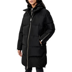 Hooded Down Coat w/ Sheepskin Bib