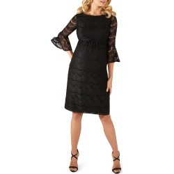 Maternity Jane Fluted-Sleeve Lace Cocktail Dress found on MODAPINS from neimanmarcus.com for USD $290.00