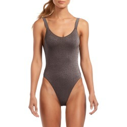 Leah Metallic High-Leg One-Piece Swimsuit found on Bargain Bro India from neimanmarcus.com for $165.00
