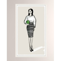 OOTD Casual VI Giclee On Paper Wall Art With Frame found on Bargain Bro from neimanmarcus.com for USD $197.60