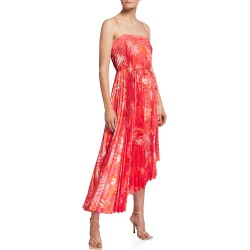 Irene Tropical Palm-Print Asymmetric Dress found on MODAPINS from neimanmarcus.com for USD $350.00