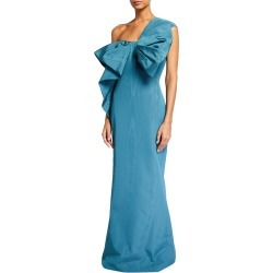 One-Shoulder Moire Bow Gown found on MODAPINS from neimanmarcus.com for USD $1422.00