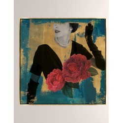 Floral Fashionista Giclee On Canvas Wall Art With Frame found on Bargain Bro from neimanmarcus.com for USD $300.20