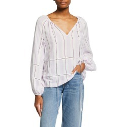Janey Long-Sleeve Striped Top found on Bargain Bro India from neimanmarcus.com for $295.00