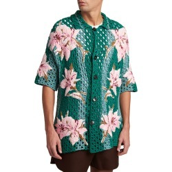 Men's Macrame Floral Knit Shirt found on Bargain Bro India from neimanmarcus.com for $3150.00