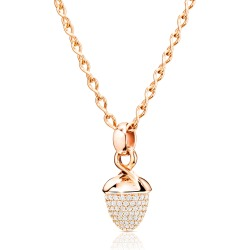 Mikado Bouquet Pave Diamond Pendant Enhancer in Rose Gold