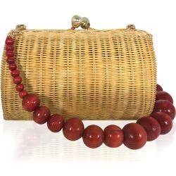 Farah Diba Wicker Clutch Bag found on MODAPINS from neimanmarcus.com for USD $343.00