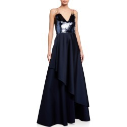 Teagan Sequin-Bodice Sleeveless Gown found on MODAPINS from neimanmarcus.com for USD $379.00