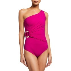 Else One-Shoulder One-Piece Swimsuit found on MODAPINS from neimanmarcus.com for USD $350.00