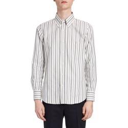 Men's Herringbone Flannel Striped Sport Shirt found on Bargain Bro India from neimanmarcus.com for $390.00