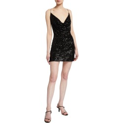 Baldwin Crystal Mesh Sequin Mini Dress found on MODAPINS from neimanmarcus.com for USD $275.00