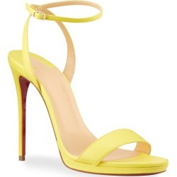 Loubi Queen Red Sole Ankle-Wrap Sandals found on Bargain Bro India from neimanmarcus.com for $845.00