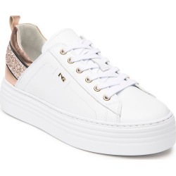 Glitter Leather Platform Sneakers found on Bargain Bro Philippines from neimanmarcus.com for $239.00