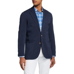 Men's Basic Knit Three-Button Jacket, Navy found on Bargain Bro Philippines from neimanmarcus.com for $487.00