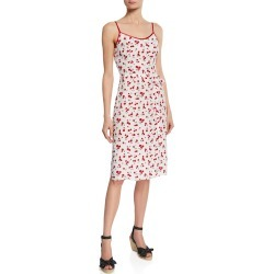 Susan Cherry-Print Slip Dress found on MODAPINS from neimanmarcus.com for USD $465.00