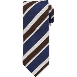 Multi-Stripe Silk Tie, Navy found on Bargain Bro India from neimanmarcus.com for $170.00