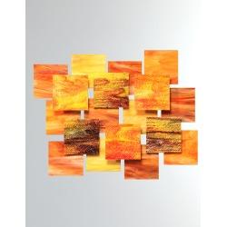 Autumn Glass Wall Sculpture