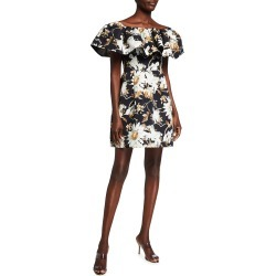 Off-the-Shoulder Ruffled Cocktail Dress found on MODAPINS from neimanmarcus.com for USD $822.00