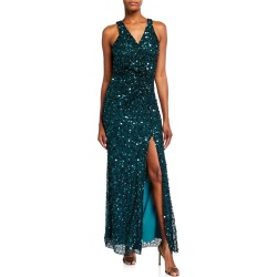 Harmony Beaded Mesh Sleeveless Gown found on Bargain Bro Philippines from neimanmarcus.com for $728.00