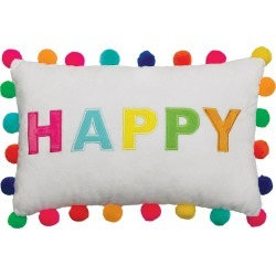 Happy Pompom Pillow found on Bargain Bro from neimanmarcus.com for USD $24.32