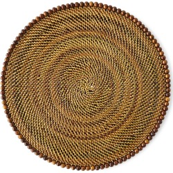 Round Placemats with Beads, Set of 4