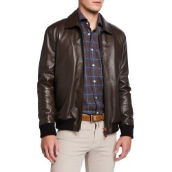 Men's Napa Lambskin Bomber Jacket found on Bargain Bro Philippines from neimanmarcus.com for $9995.00