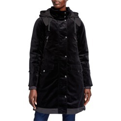 Silvia Bonded 2-Layer Velvet Coat found on Bargain Bro from neimanmarcus.com for USD $531.24