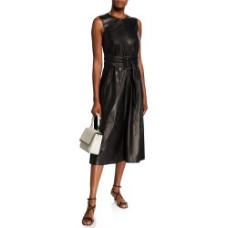 Leather-Front Sleeveless Cocktail Dress found on MODAPINS from neimanmarcus.com for USD $2172.00