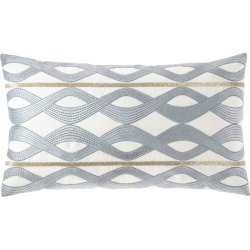 Linen-Blend Decorative Pillow found on Bargain Bro from neimanmarcus.com for USD $209.00