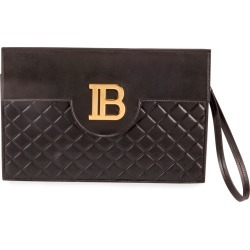B Pouch Quilted Lambskin Logo Clutch Bag found on Bargain Bro India from neimanmarcus.com for $995.00