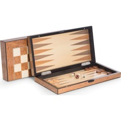 Lacquer-Finished Travel Game Set, Brown found on Bargain Bro India from neimanmarcus.com for $175.00