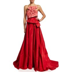 Colorblock Strapless Bow-Front Gown found on MODAPINS from neimanmarcus.com for USD $4990.00