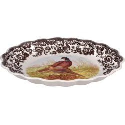 Pheasant Oval Fluted Dish found on Bargain Bro Philippines from neimanmarcus.com for $106.90