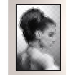 Pixelism Portrait Giclee On Canvas Wall Art With Frame found on Bargain Bro from neimanmarcus.com for USD $482.60
