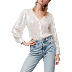 Isla Sequin Blouse found on MODAPINS from neimanmarcus.com for USD $218.00