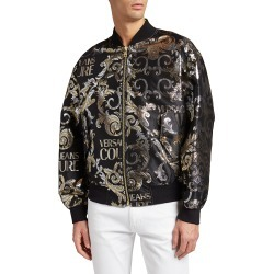 Men's Metallic Logo Bomber Jacket found on Bargain Bro India from neimanmarcus.com for $775.00