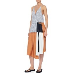 Colorblock Wrap Slip Dress found on MODAPINS from neimanmarcus.com for USD $695.00