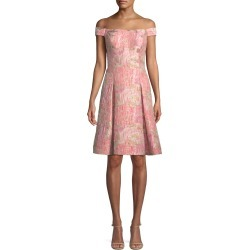 Off-the-Shoulder Brocade Cocktail Dress found on MODAPINS from neimanmarcus.com for USD $125.00