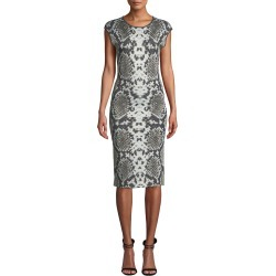 Cap-Sleeve Python-Print Cocktail Dress found on MODAPINS from neimanmarcus.com for USD $297.00