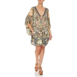 Embellished Bat-Sleeve Kaftan Dress, One Size found on MODAPINS from neimanmarcus.com for USD $500.00