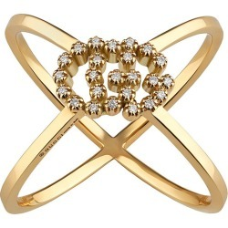 18k GG Running X Diamond Ring, Size 6.75