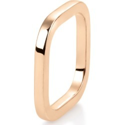 18k Rose Gold Square TV Ring, Size 5.5