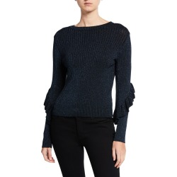 Hope Ruffle Long-Sleeve Sweater found on MODAPINS from neimanmarcus.com for USD $134.00