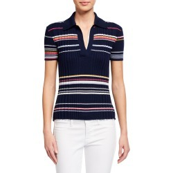 Harmony Striped Multi Rib Polo Shirt found on Bargain Bro Philippines from neimanmarcus.com for $445.00
