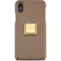 iPhone XS Leather Finger-Ring Phone Case