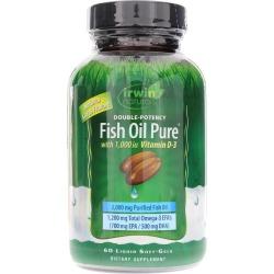 Irwin Naturals Double-Potency Fish Oil Pure 60 Liquid Softgels