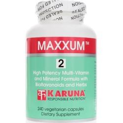 Karuna Maxxum 2 Multivitamin and Mineral with Bioflavonoids 240 Veg Capsules