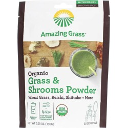 Amazing Grass Organic Grass & Shrooms Powder 5.29 Oz found on Bargain Bro Philippines from natural healthy concepts for $11.09